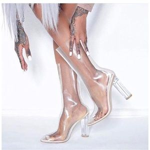 Cape Robbin clear Perspex boots